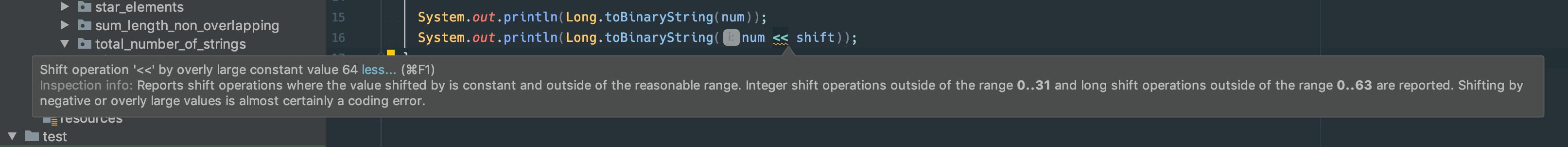 Bitshift to 64 bit in Java