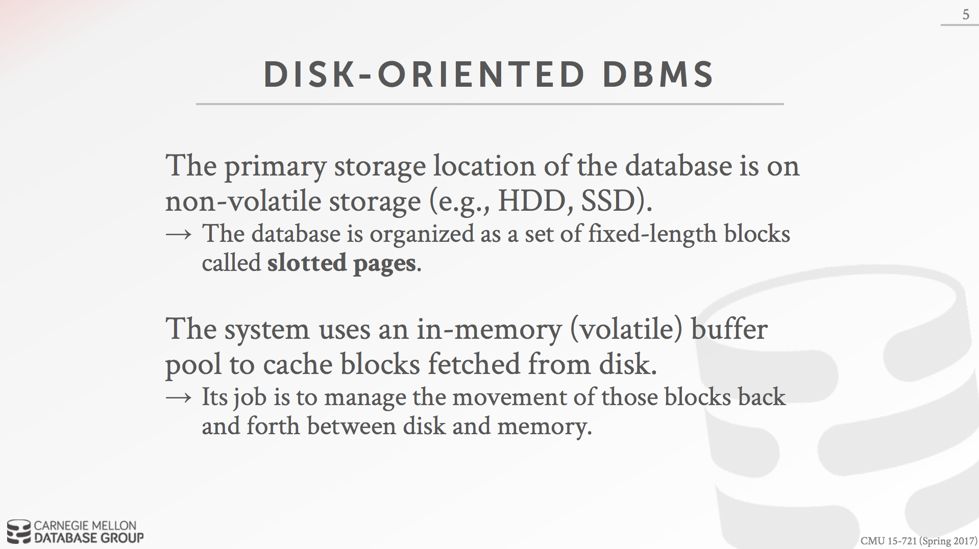 Disk-Oriented